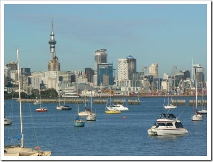 Auckland city and harbor
