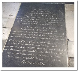 Memorial Stone, Winchester Cathedral