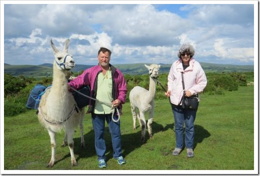 Llama Trek Shelley and Paul