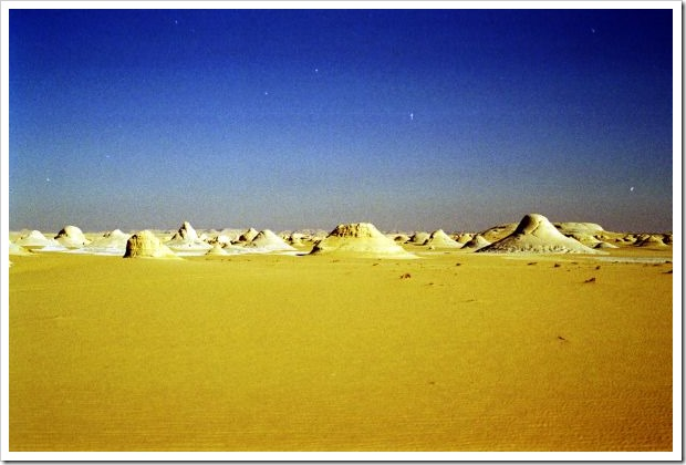White Desert Night